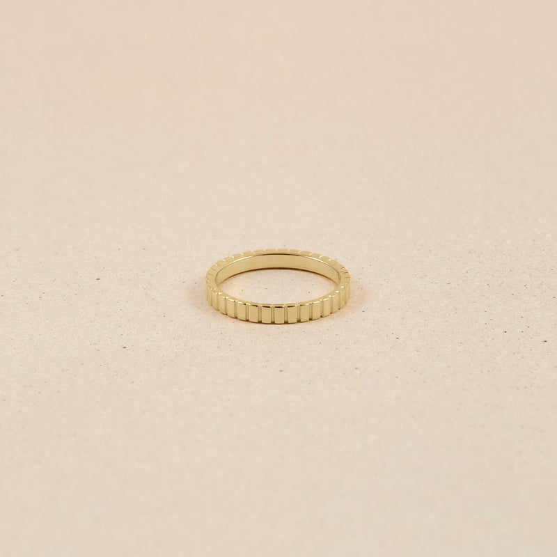 Ridged Ring 14k Massivgold Jewelry stilnest 14k Massivgold XS - 49 (15.6mm)