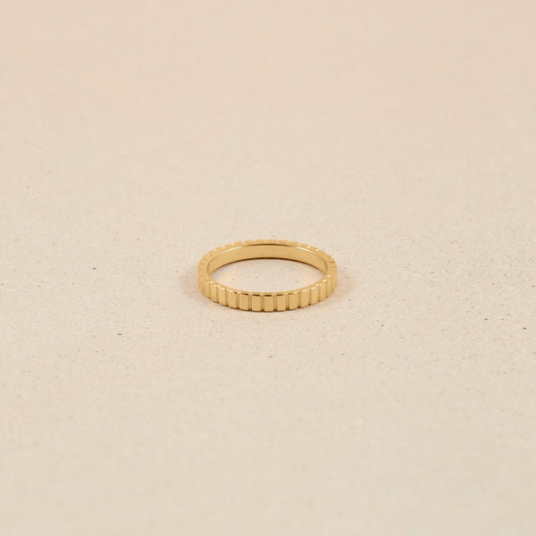 Ridged Ring Jewelry stilnest 24ct Gold Vermeil XS - 49 (15.6mm)