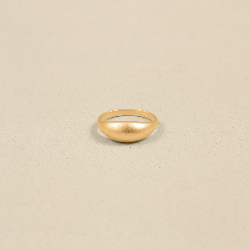 Ring Produktion Custom Ring stilnest-atelier 24ct Gold Vermeil (+20 EUR) Matt The Chunky (+125 EUR)