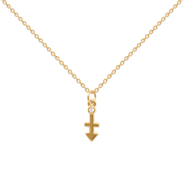 Sagittarius Kette Jewelry luisa-lion 24ct Gold Vermeil Necklace size: S (45cm)
