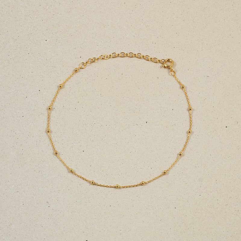 Satellite Fußkettchen Jewelry stilnest 24ct Gold Vermeil 22 + 5 cm