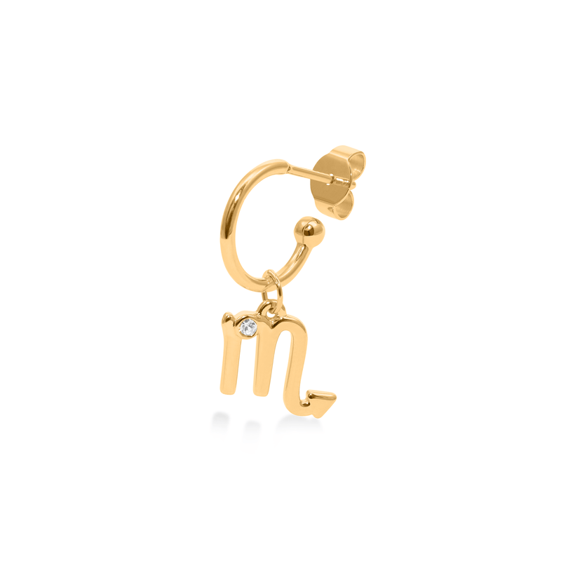 Scorpio Hoop Jewelry luisa-lion 24ct Gold Vermeil Single