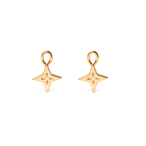 Shooting Star Anhänger Set (Paar) Jewelry useless 24ct Gold Vermeil