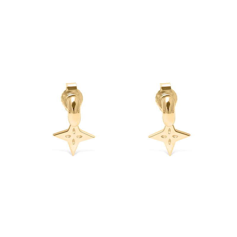 Shooting Star Anhänger Set (Paar) + Tide Studs Jewelry useless 14ct solid Gold