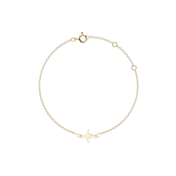 Shooting Star Bracelet - Solid Gold Jewelry useless 14ct solid Gold