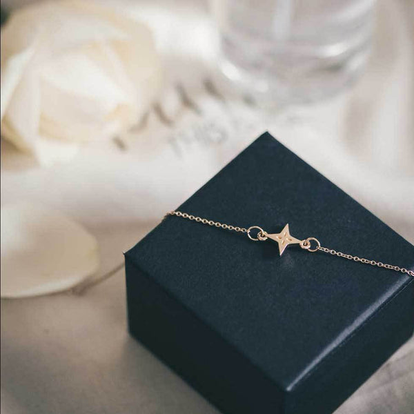 Shooting Star Bracelet - Solid Gold Jewelry useless