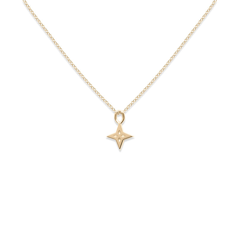 Shooting Star Kette 14 ct Solid Gold Jewelry useless