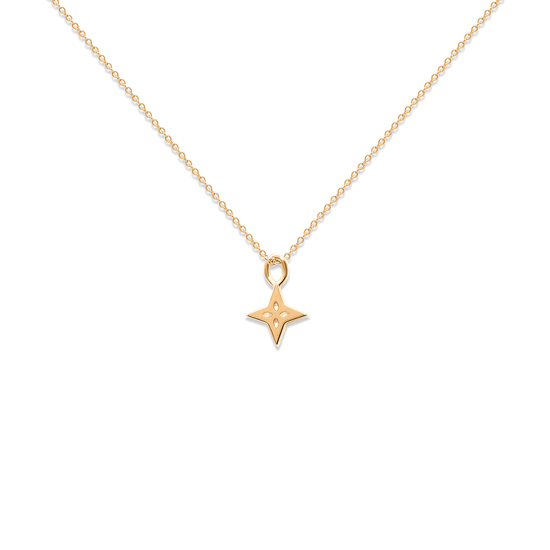 Shooting Star Necklace Jewelry useless 24ct Gold Vermeil S (45cm) Ankerkette