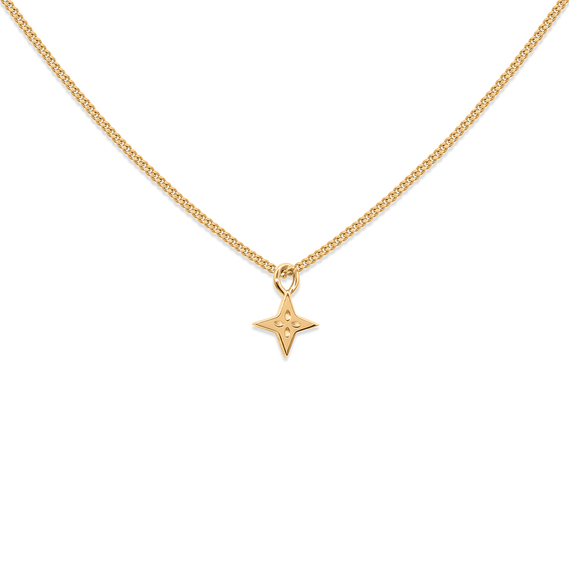 Shooting Star Necklace Jewelry useless 24ct Gold Vermeil S (45cm) Panzerkette