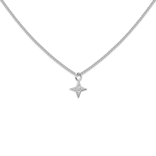 Shooting Star Necklace Jewelry useless 925 Silver S (45cm) Panzerkette