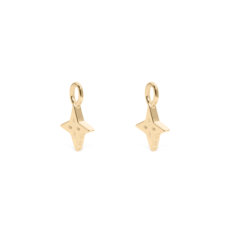 Shooting Star Pendant Set (Pair) - Solid Gold Jewelry useless