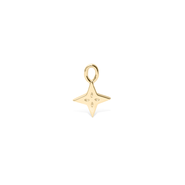 Shooting Star Pendant - Solid Gold Jewelry useless 14ct solid Gold