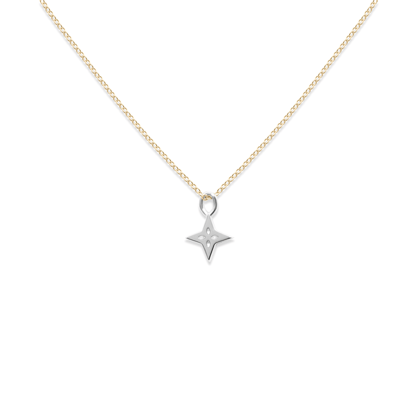 Silber Shooting Star Anhänger + Gold Kette Jewelry useless S (45cm)