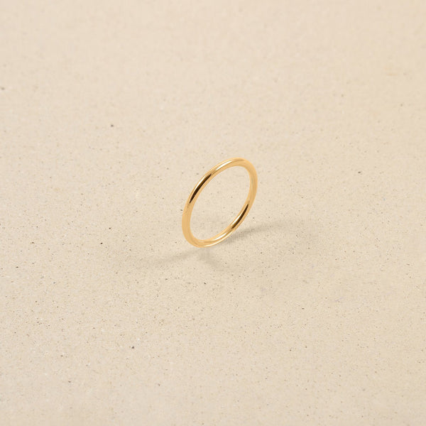 Simple Reminder Ring Jewelry stilnest 24ct Gold Vermeil S - 52 (16.6mm)