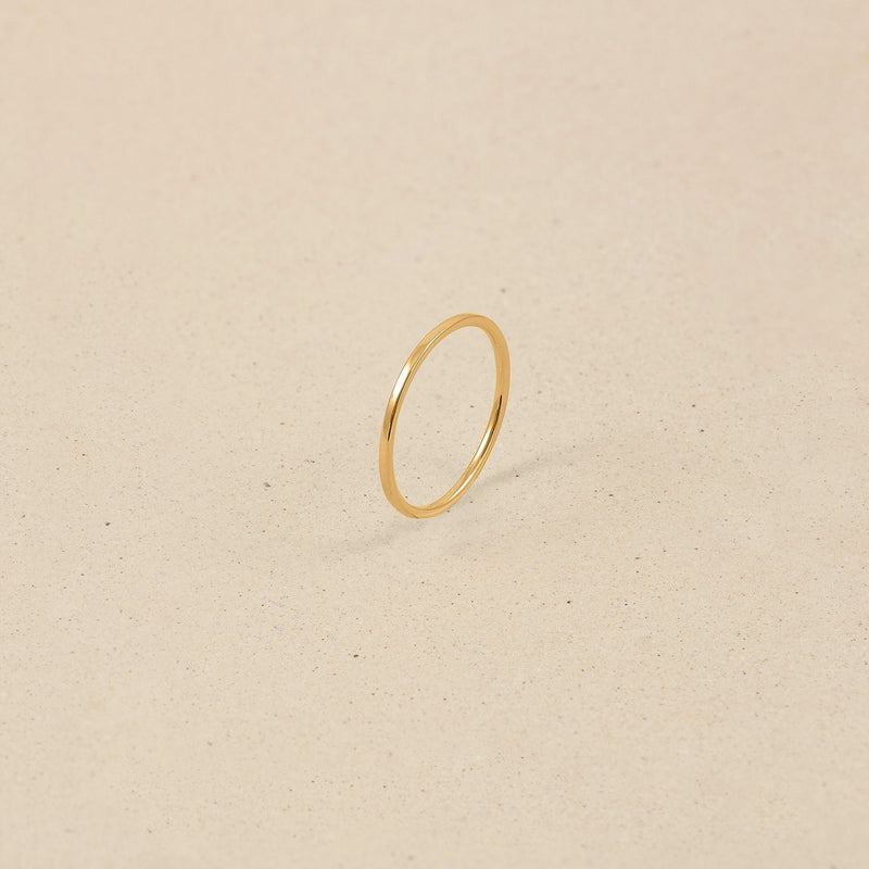 Simple Ring Jewelry stilnest 24ct Gold Vermeil L - 60 (19.1mm)