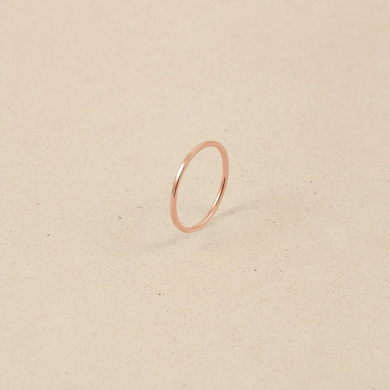 Simple Ring Jewelry stilnest Rose Gold Vermeil XXS - 44 (14.01mm)