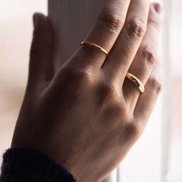 Simple Ring Solid Gold 14k Jewelry stilnest