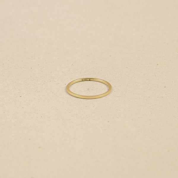Simple Square Fair Band Jewelry Stilnest 46 (14.6 mm) 14ct Fair Trade Gold
