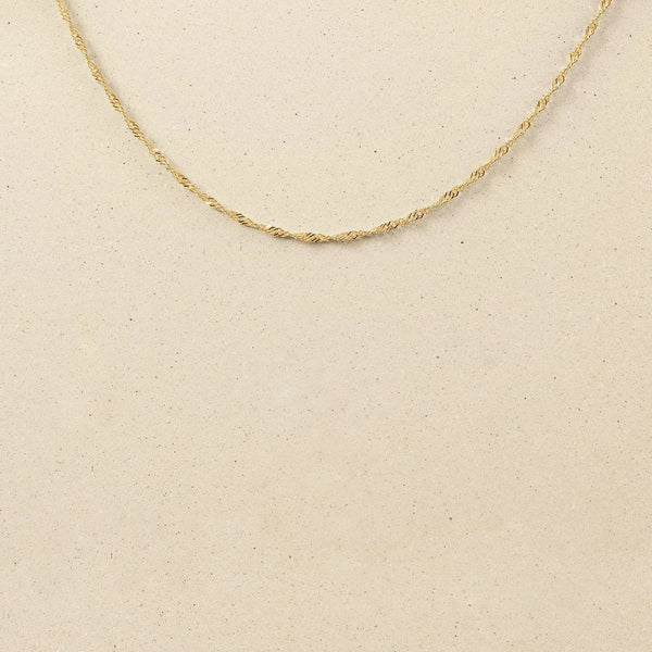 Singapore Kette Jewelry stilnest 24ct Gold Vermeil S (45cm)