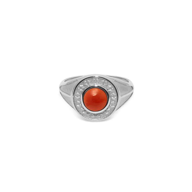 Solace Stone Ring Jewelry taylor-lashae Rhodium Plated 925 Silver S - 52 (16.6mm) Red Agate