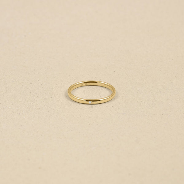 Solo Diamond Fair Band Jewelry stilnest 46 (14.6 mm) 14ct Fair Trade Gold