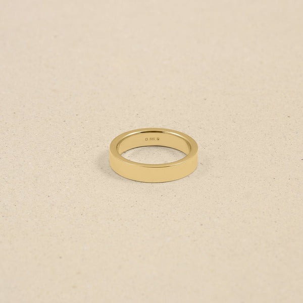 Square Fair Band Jewelry Stilnest 46 (14.6 mm) 14ct Fair Trade Gold