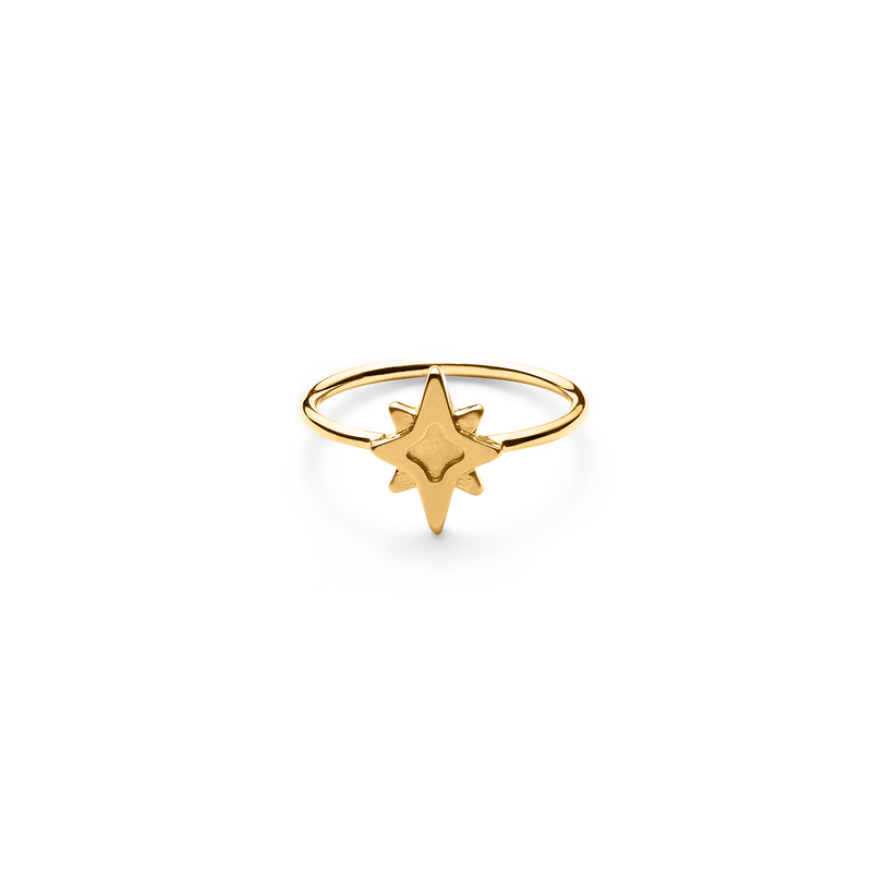 Star Dancer Ring Jewelry jolie-janine 925 Silver Gold Plated S - 52 (16.6mm)