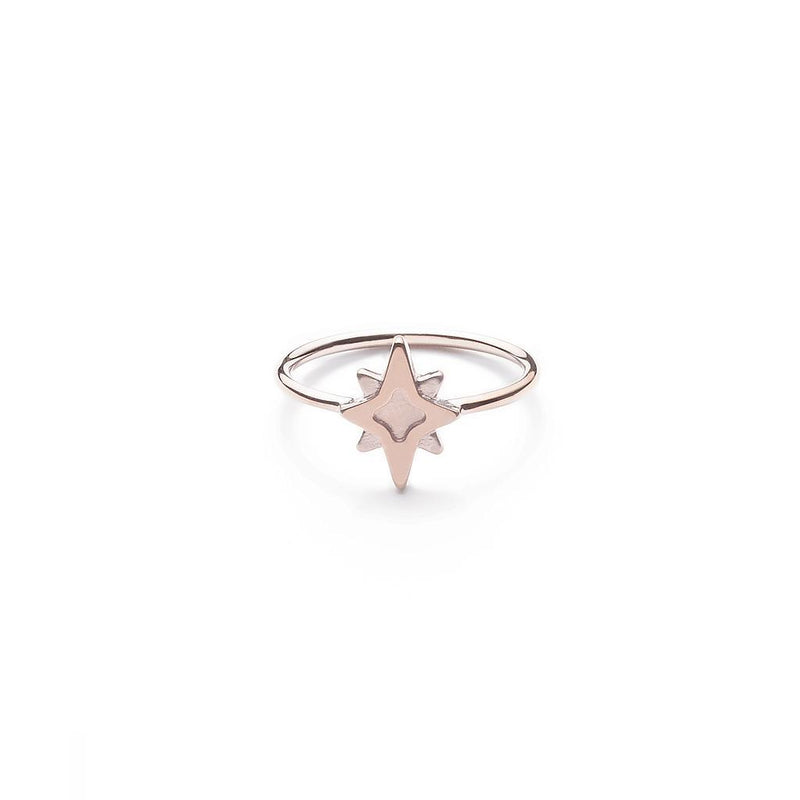 Star Dancer Ring Jewelry jolie-janine 925 Silver Rose Gold Plated XS - 49 (15.6mm)