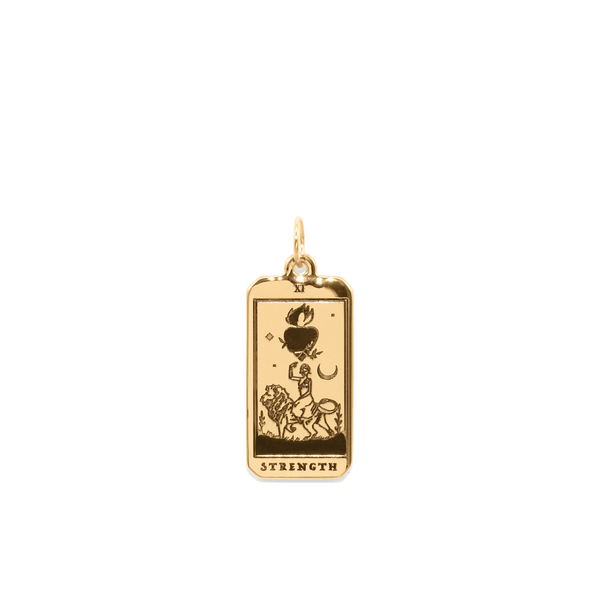 Strength Tarot Card Anhänger Jewelry jacko-wusch 24ct Gold Vermeil