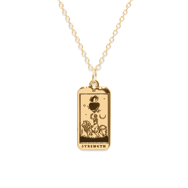 Strength Tarot Card Kette Jewelry jacko-wusch 24ct Gold Vermeil S (45cm)