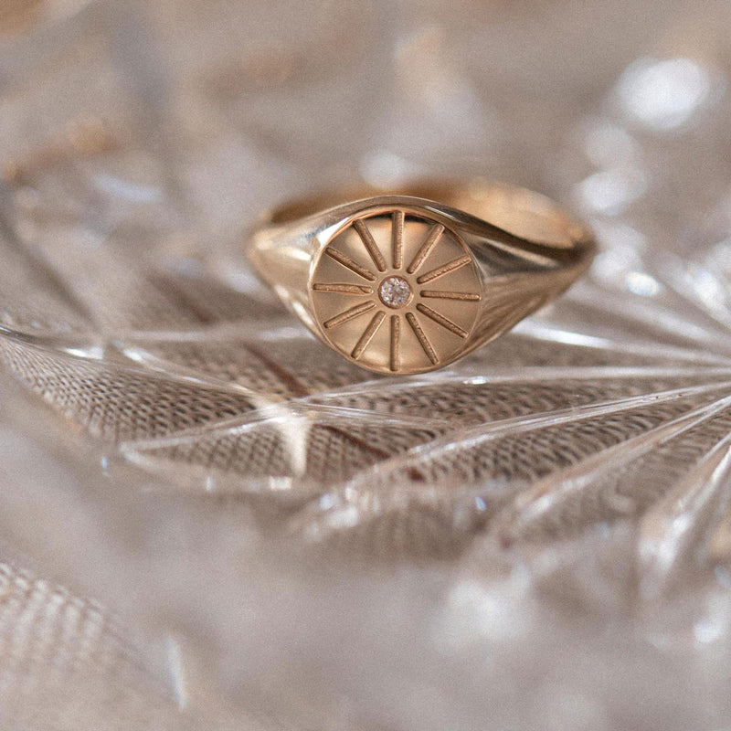 Sunrise Signet Ring Jewelry useless