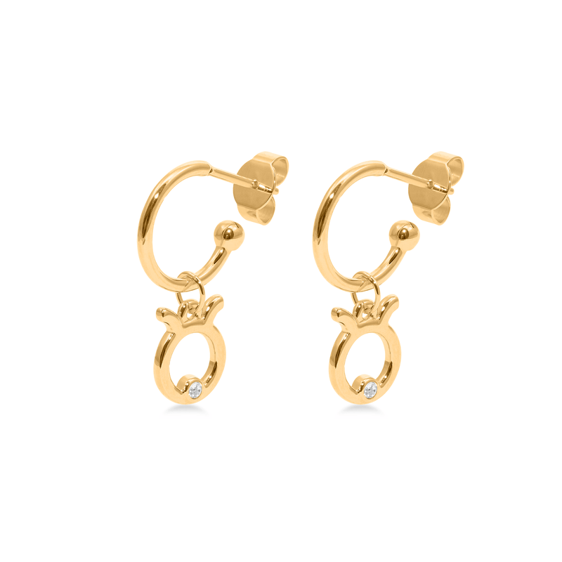 Taurus Hoop Jewelry luisa-lion 24ct Gold Vermeil Pair