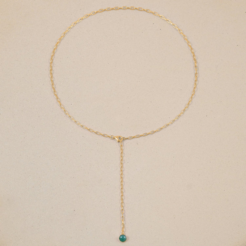 The Color Barring Kette Aventurine Quartz Jewelry frau-hoelle 24ct Gold Vermeil
