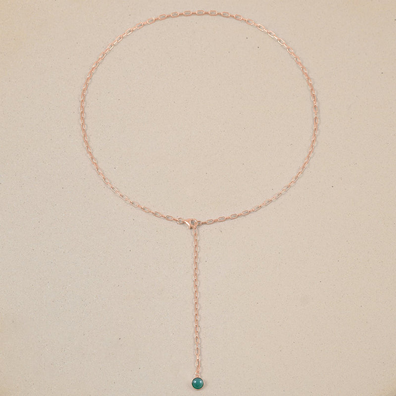 The Color Barring Kette Aventurine Quartz Jewelry frau-hoelle Rose Gold Vermeil