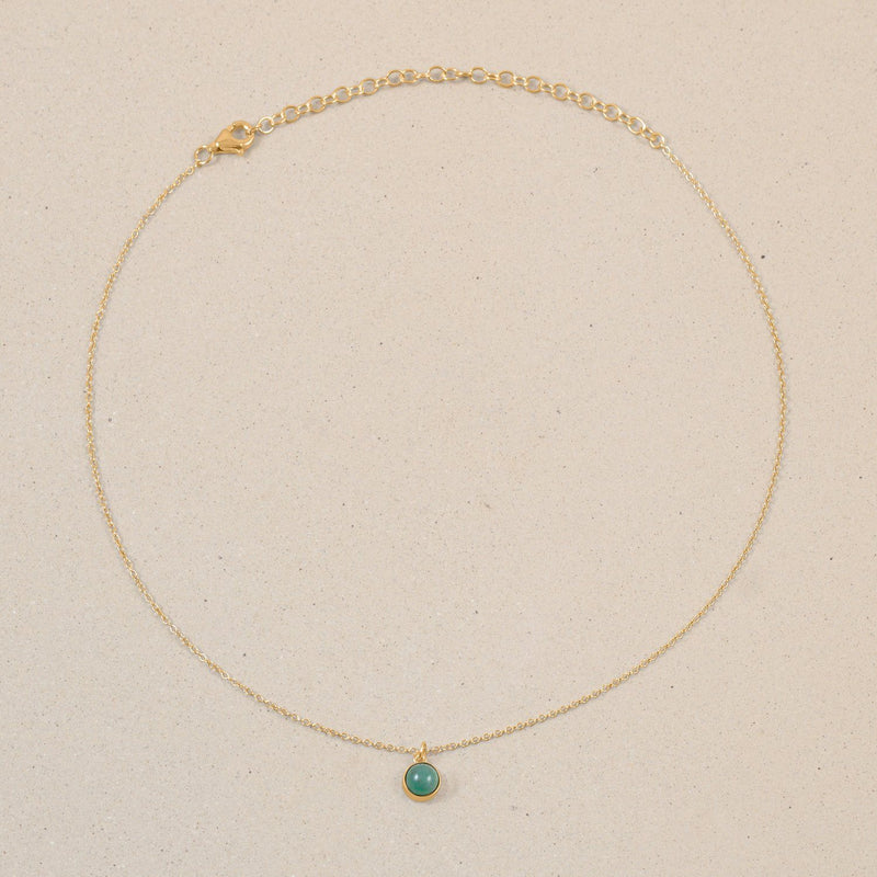 The Color Choker Aventurine Quartz Jewelry frau-hoelle 24ct Gold Vermeil