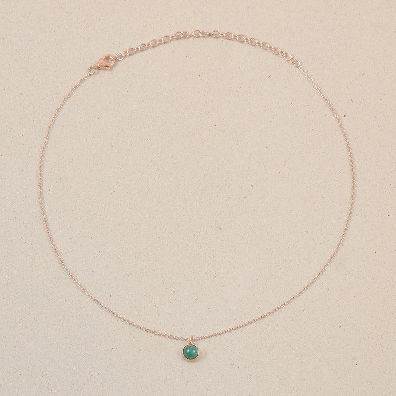 The Color Choker Aventurine Quartz Jewelry frau-hoelle Rose Gold Vermeil