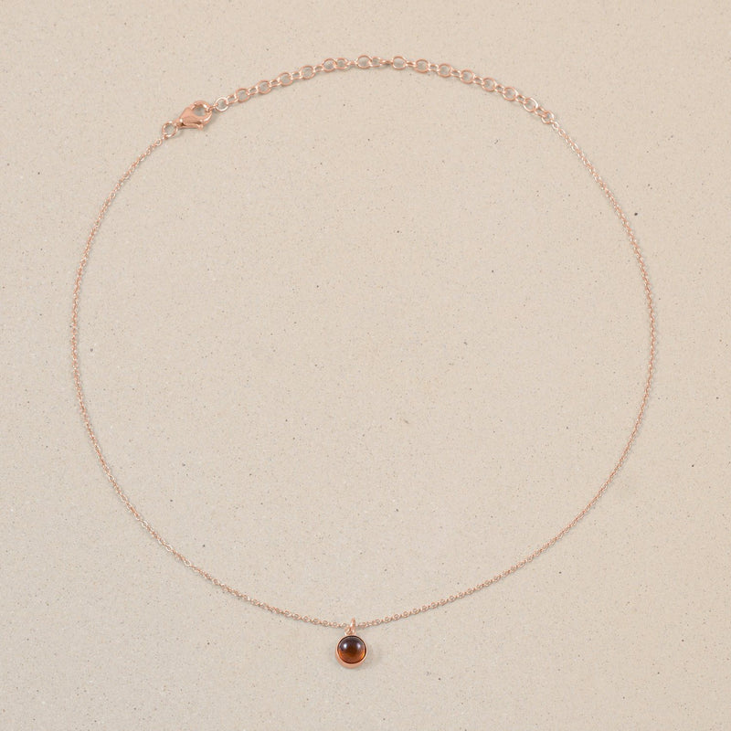 The Color Choker Bernstein Jewelry frau-hoelle Rose Gold Vermeil