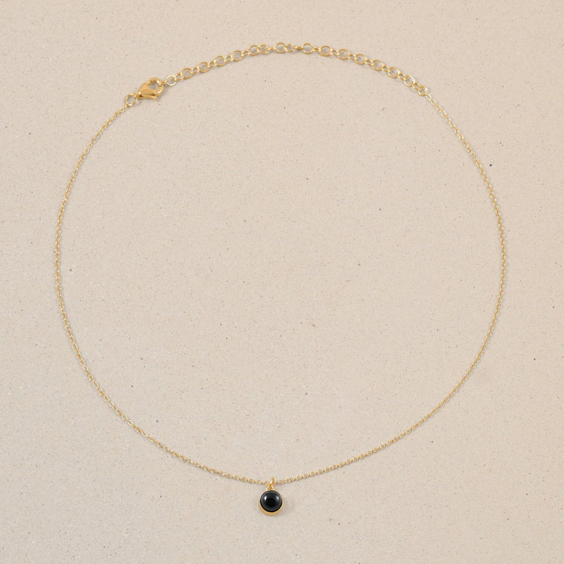 The Color Choker Onyx Jewelry frau-hoelle 24ct Gold Vermeil
