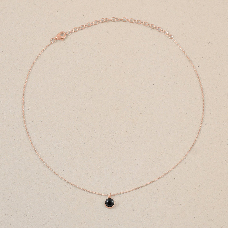 The Color Choker Onyx Jewelry frau-hoelle Rose Gold Vermeil