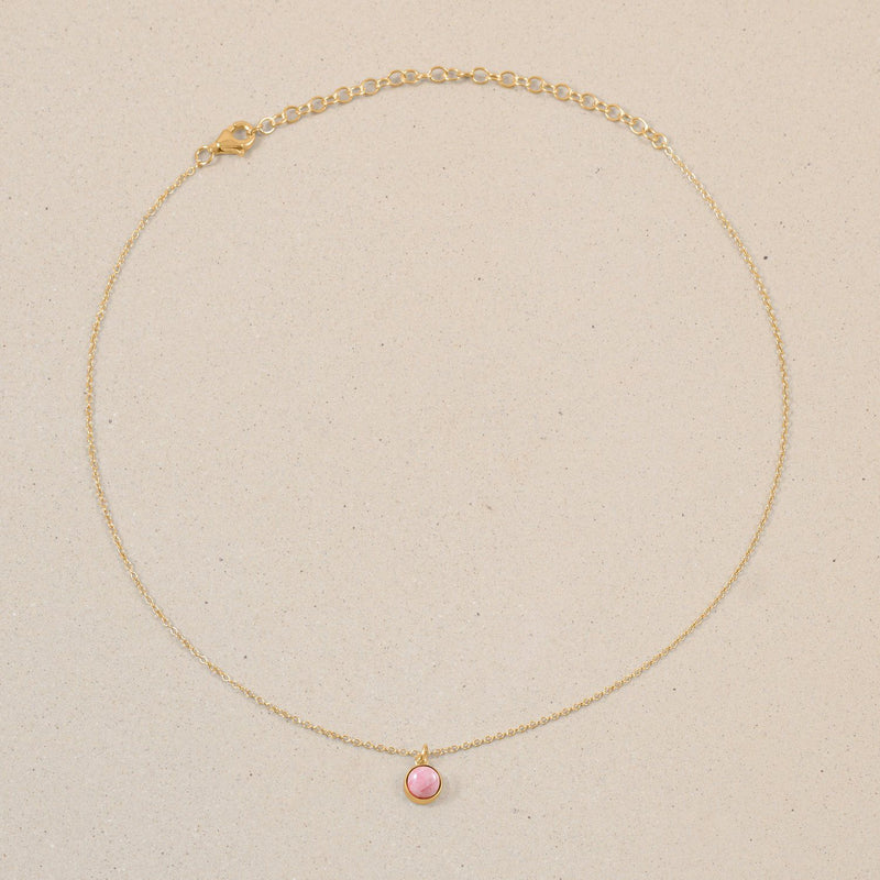The Color Choker Rhodocrosite Jewelry frau-hoelle 24ct Gold Vermeil