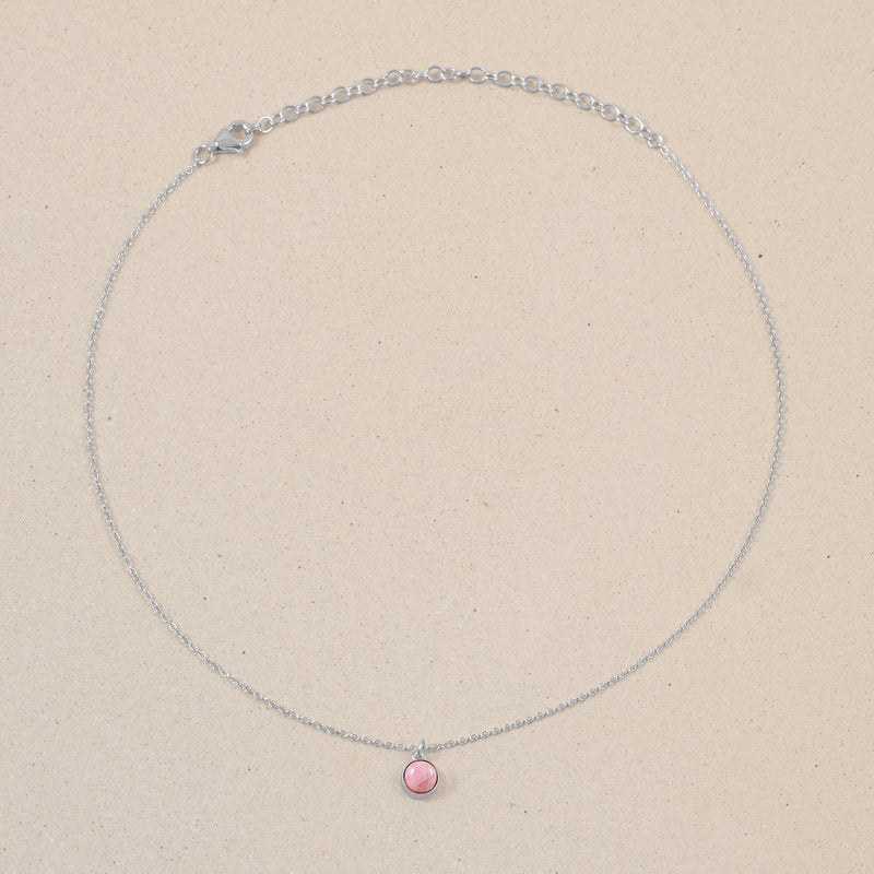 The Color Choker Rhodocrosite Jewelry frau-hoelle 925 Silver