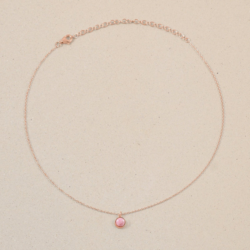 The Color Choker Rhodocrosite Jewelry frau-hoelle Rose Gold Vermeil