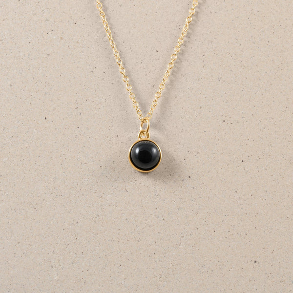 The Color Kette Onyx Jewelry frau-hoelle 24ct Gold Vermeil 45cm