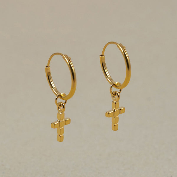 The Everyday Basic Hoop Earrings Jewelry Stilnest 24ct Gold Vermeil