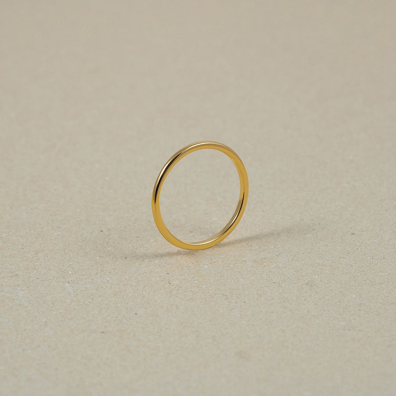 The Everyday Basic Ring Jewelry Stilnest 24ct Gold Vermeil XS - 49 (15.6mm)