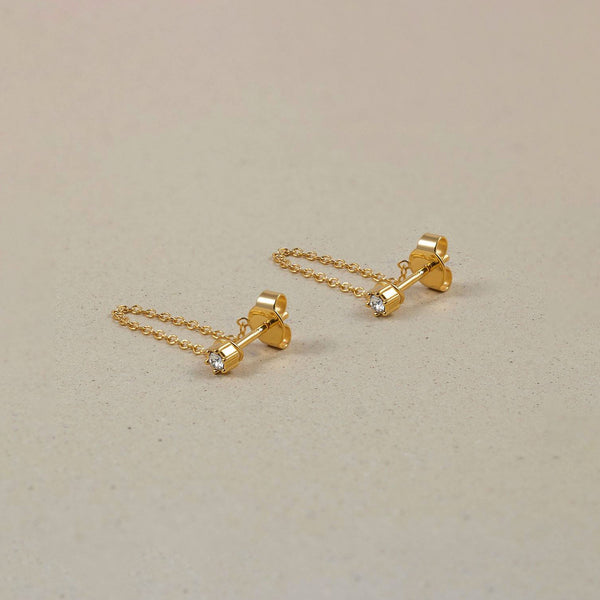The Everyday Chain Earrings Jewelry Stilnest 24ct Gold Vermeil