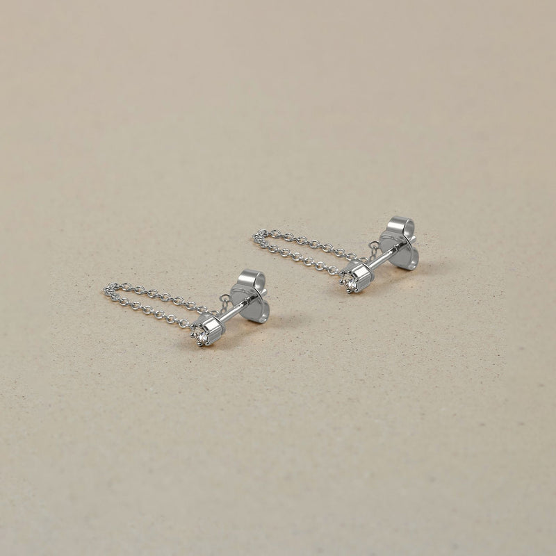 The Everyday Chain Earrings Jewelry Stilnest 925 Silver