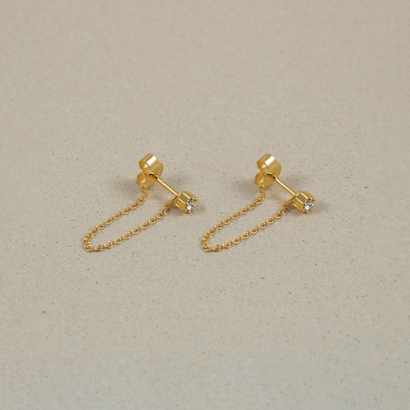 The Everyday Chain Earrings Jewelry Stilnest