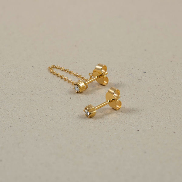 The Everyday Chain & Stud Earrings Jewelry Stilnest 24ct Gold Vermeil