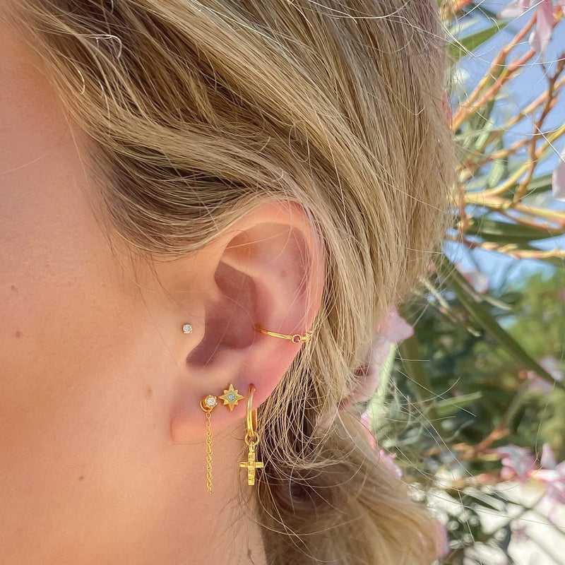 The Everyday Chain & Stud Earrings Jewelry Stilnest